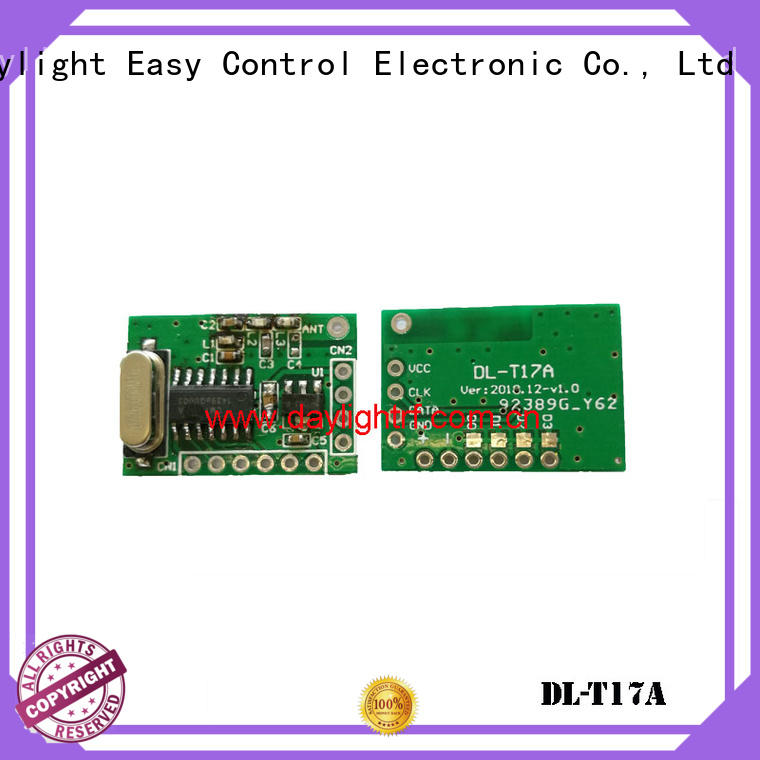 daylightrf semi transparent remote control rf with format encode fast delivery