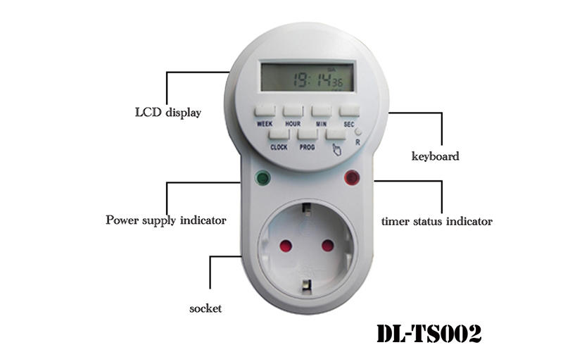 EU plug electronic programmable home application timer switch DL-TS002 Picture