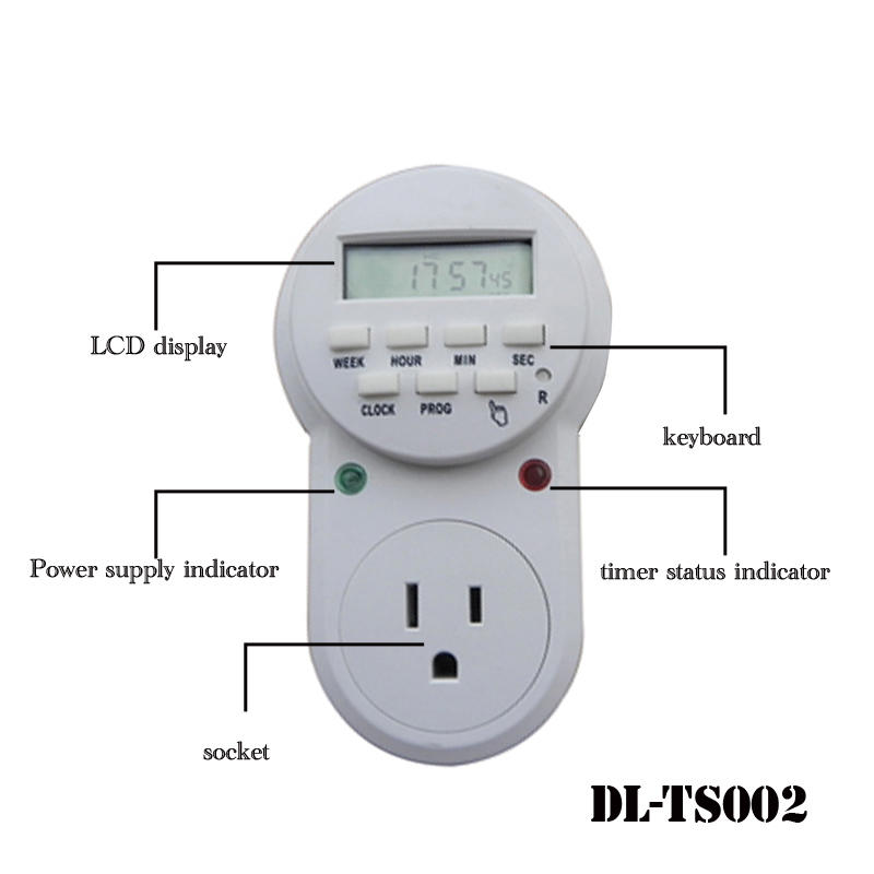 ON OFF US plug programmable timer switch DL-TS002