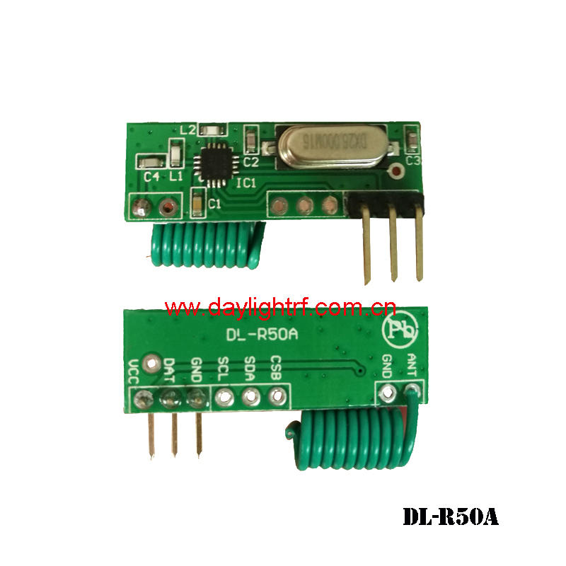 Wireless receiver module with high anti-jamming capability and narrow bandwidth DL-R50A