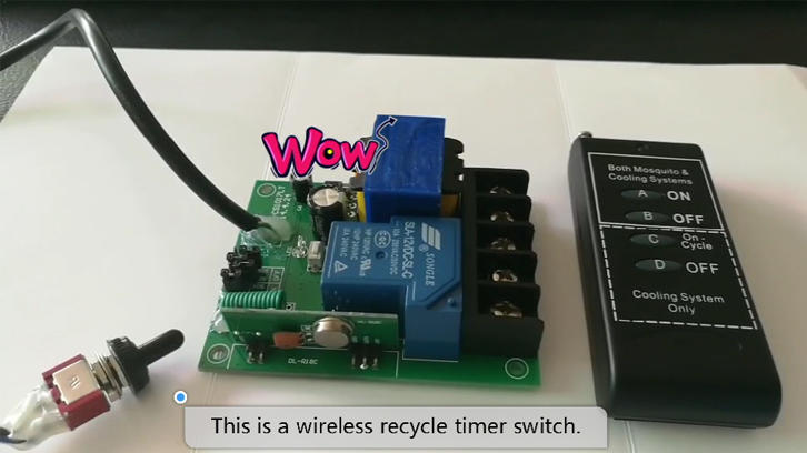 30A wireless recycle timer switch
