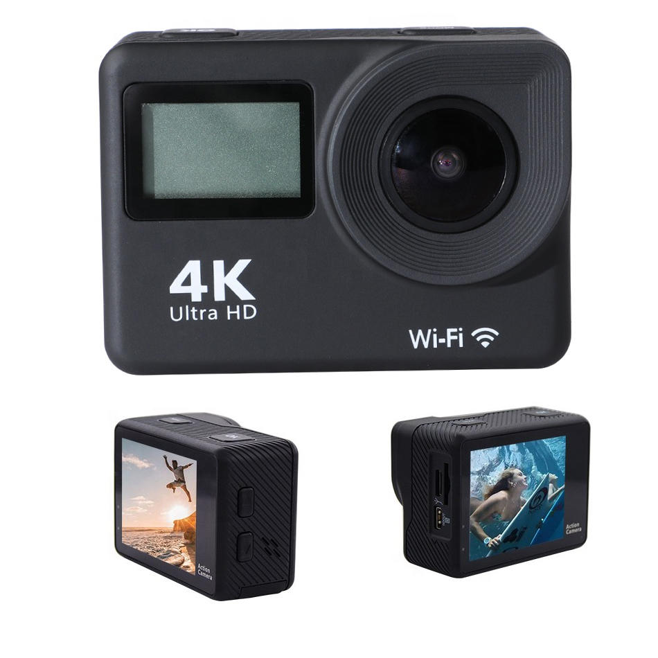 4k 3840*2160 Dual Display Sport Action Camera